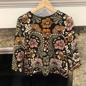 H&M floral fall top